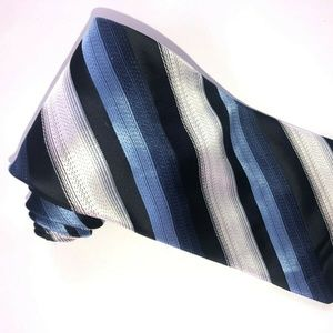 Knightsbridge Silver and Blues Striped Tie T186